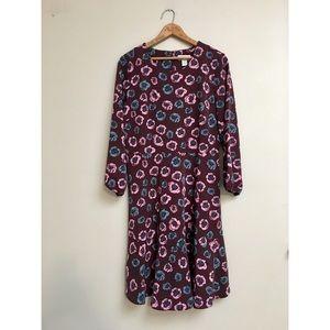 LOFT Outlet burgundy dress in floral print